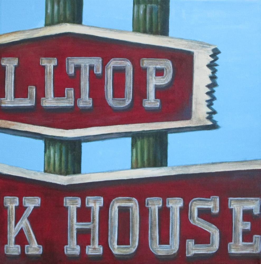 """Hilltop House"" original fine art by Debbie Shirley"