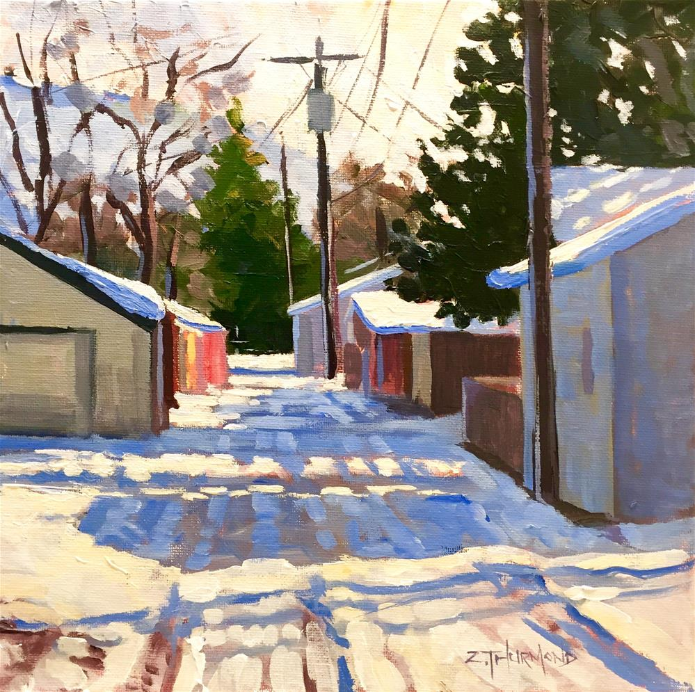 """Washington Alley"" original fine art by Zack Thurmond"
