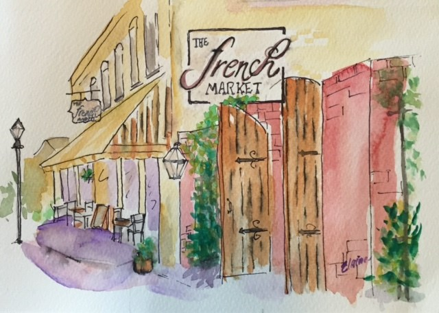 """French Market II"" original fine art by Elaine Ford"