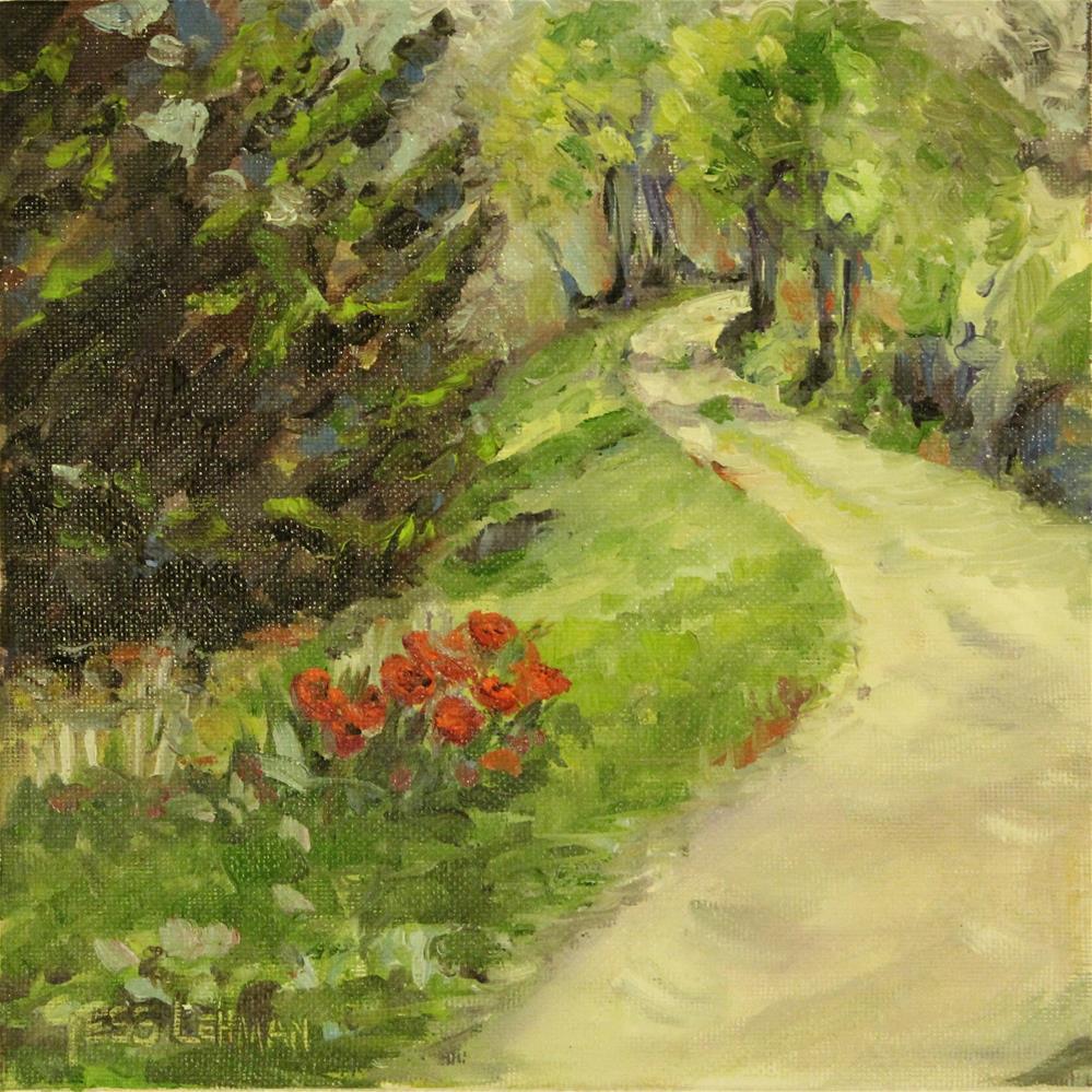 """""""The Poppy Road"""" original fine art by Tess Lehman"""