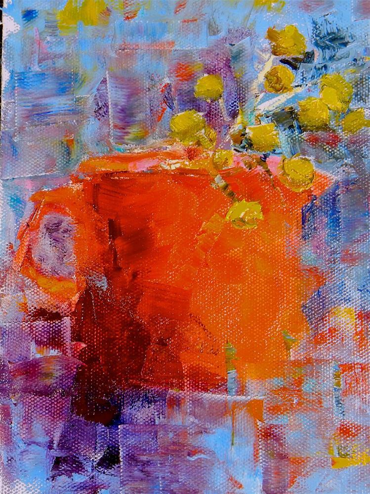 """""""Red Pitcher"""" original fine art by Phyllis Davis"""