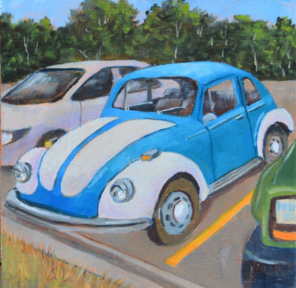 """Blue Bug"" original fine art by Robert Frankis"