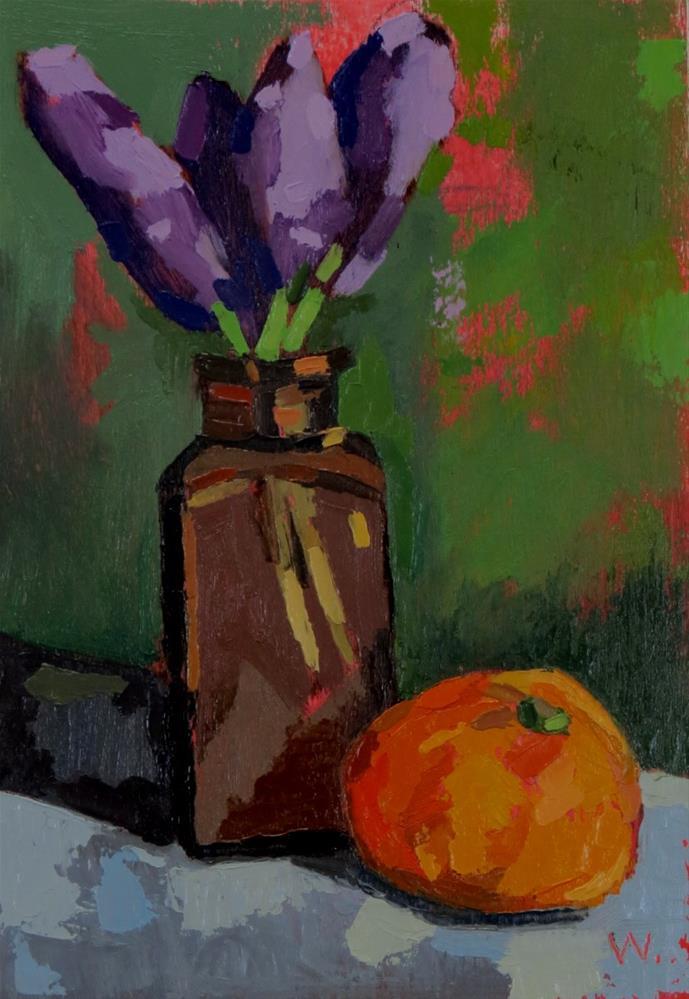 """Bluebells"" original fine art by Joan Wiberg"
