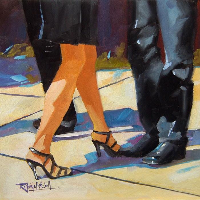 """No 574 Afternoon"" original fine art by Robin J Mitchell"