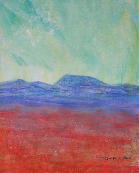 """Ruby Fields And Mary's Peak"" original fine art by Jana Johnson"