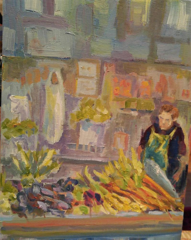 """Farmers Market"" original fine art by angela scully"