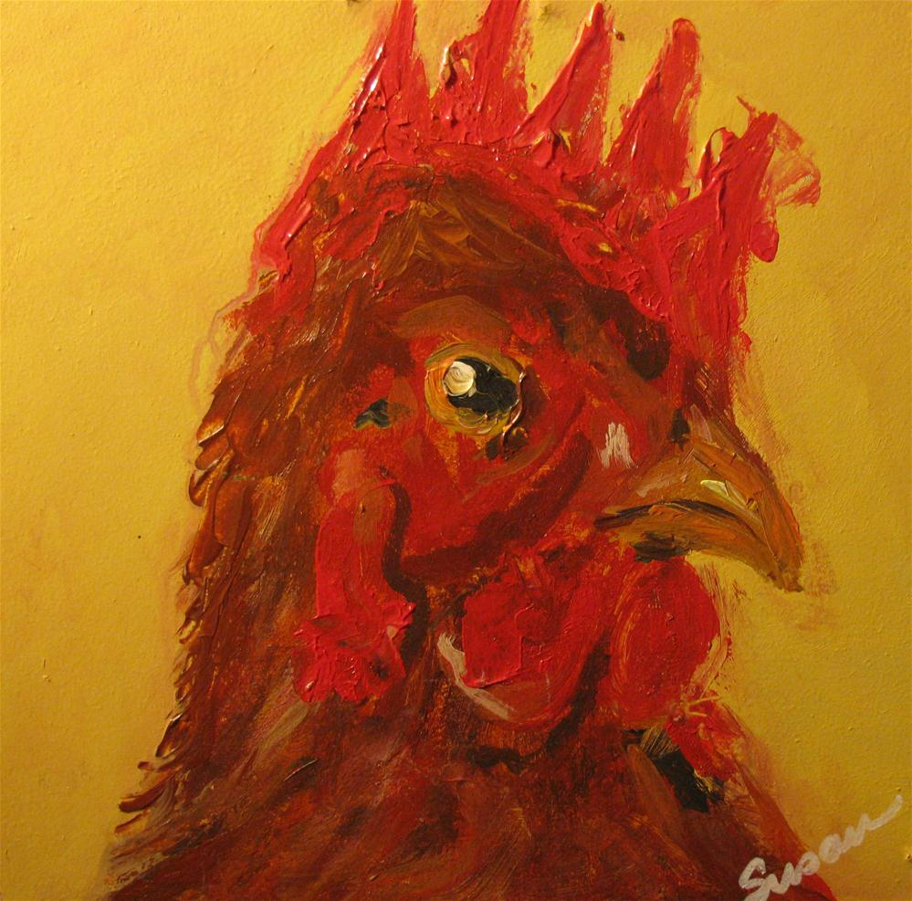 """Poullet"" original fine art by Susan Elizabeth Jones"
