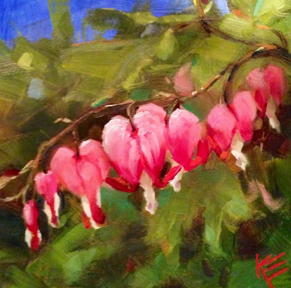 """Bleeding Hearts"" original fine art by Krista Eaton"