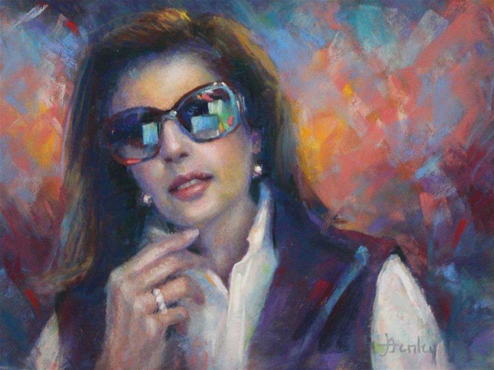 """Tinted Vision (self portrait)"" original fine art by Denise Henley"
