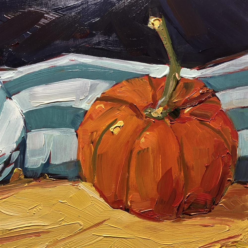 """1280: Hello Pumpkin"" original fine art by Brian Miller"