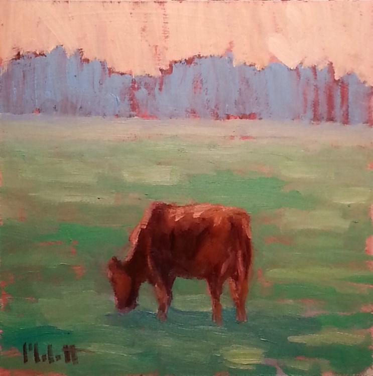 """Cow Painting Contemporary Impressionism"" original fine art by Heidi Malott"