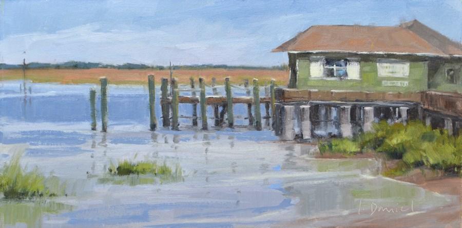 """Dockside Study"" original fine art by Laurel Daniel"