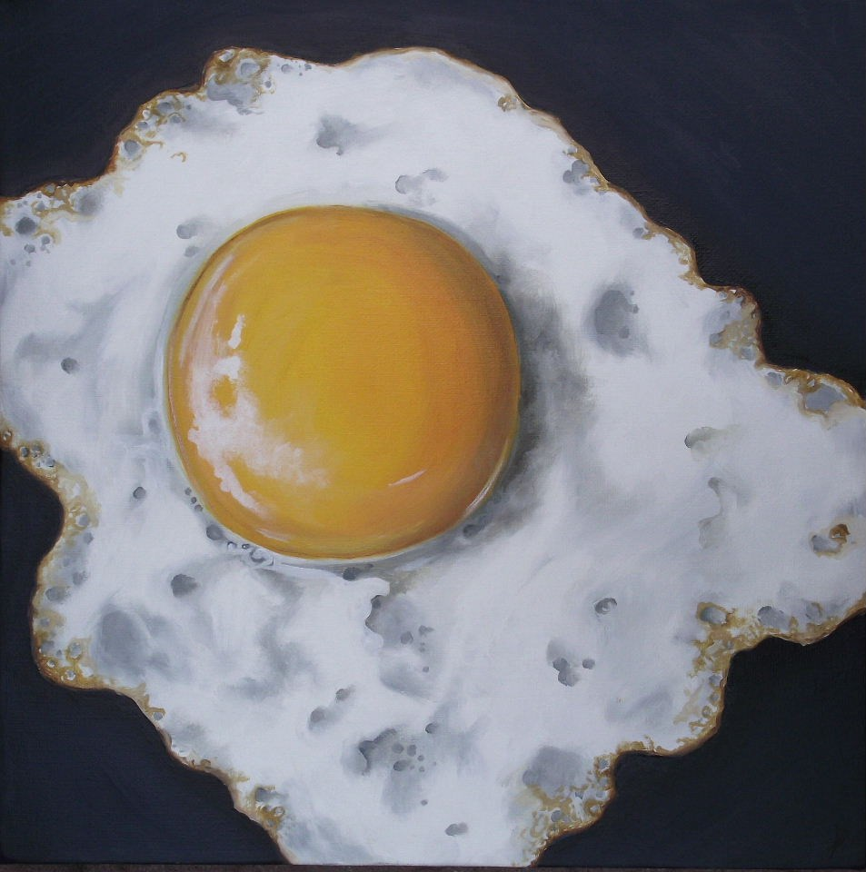 """Big Egg"" original fine art by Jane Palmer"