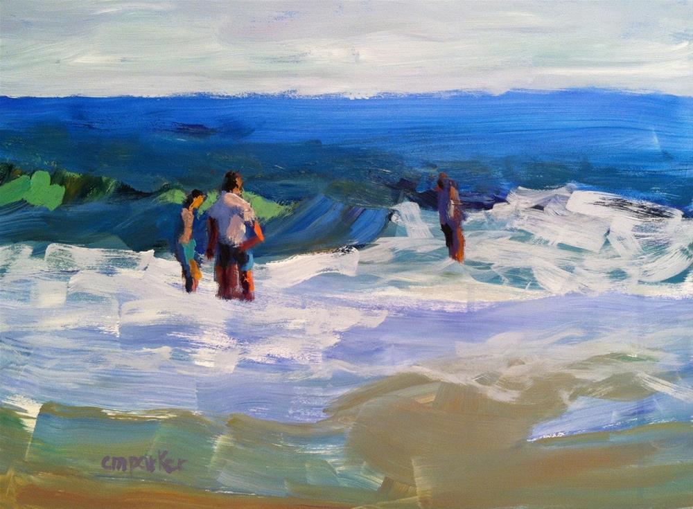 """Seascape 3/13/14"" original fine art by Christine Parker"