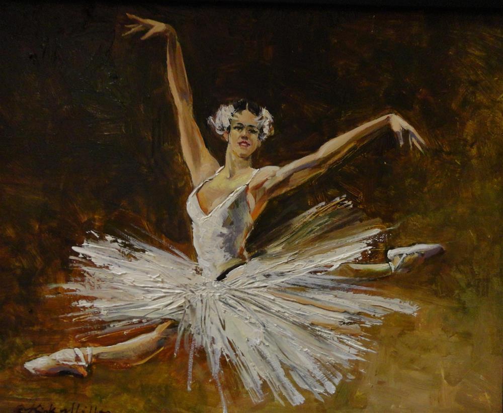 """Swan"" original fine art by Kirk Miller"