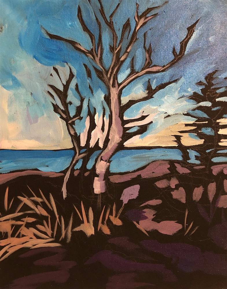 """The Light Thru The Trees"" original fine art by Kat Corrigan"