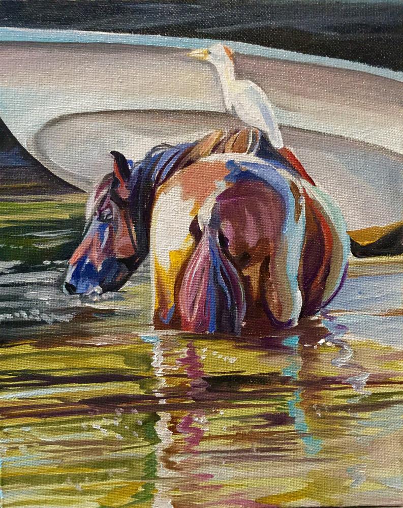"""""""The Lookout"""" original fine art by Lauren Kuhn"""