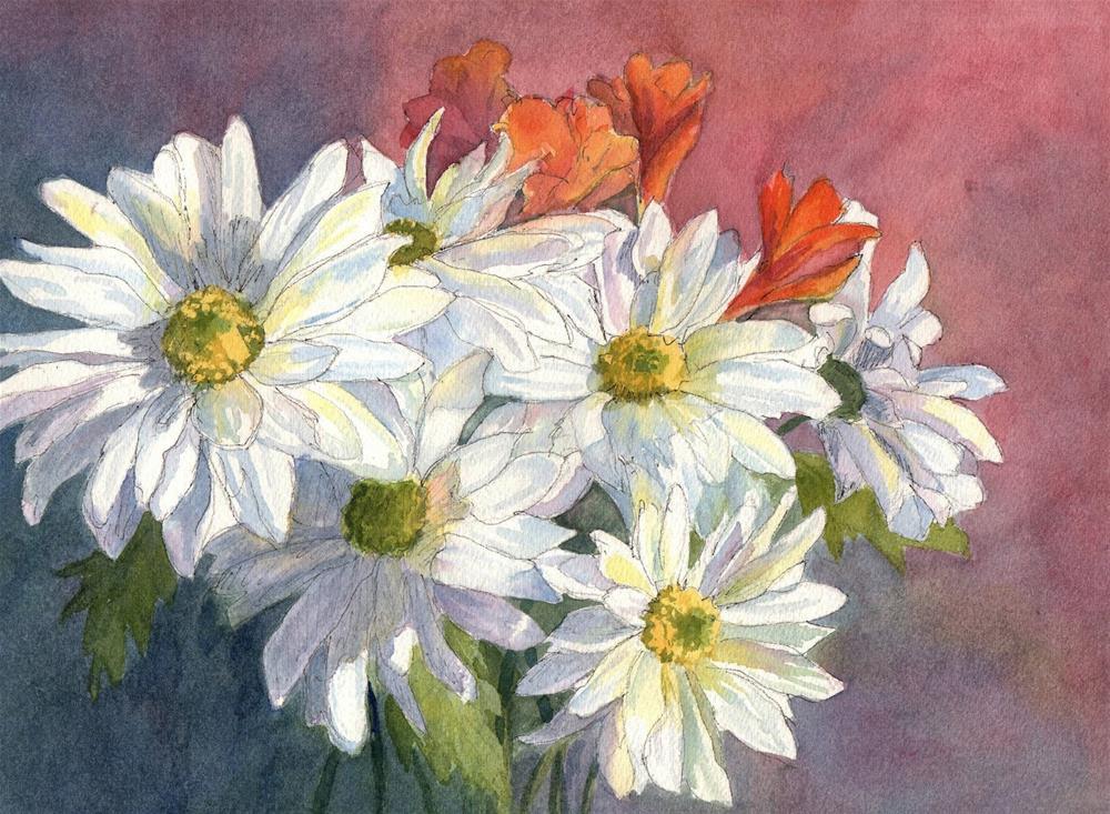 """Daisies"" original fine art by Vikki Bouffard"