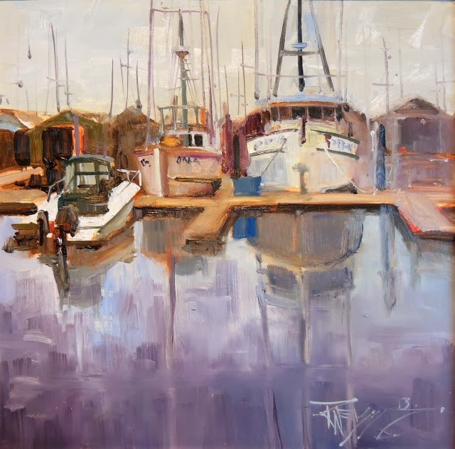 """""""Line Up  marine oil painting by Robin Weiss"""" original fine art by Robin Weiss"""