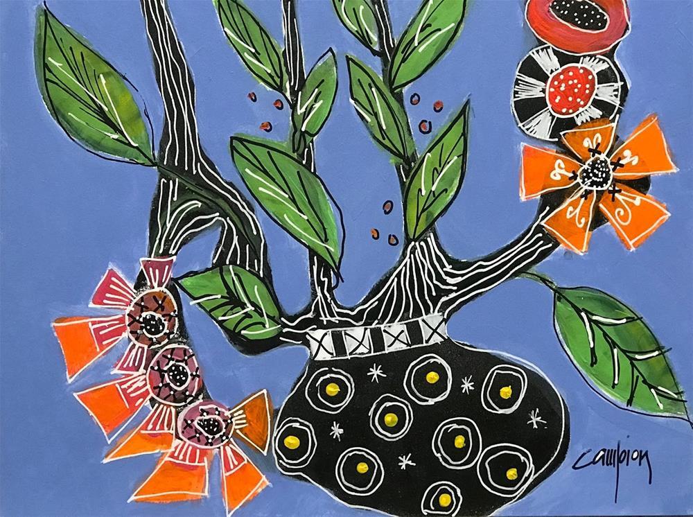 """970 Virtual Hugs"" original fine art by Diane Campion"