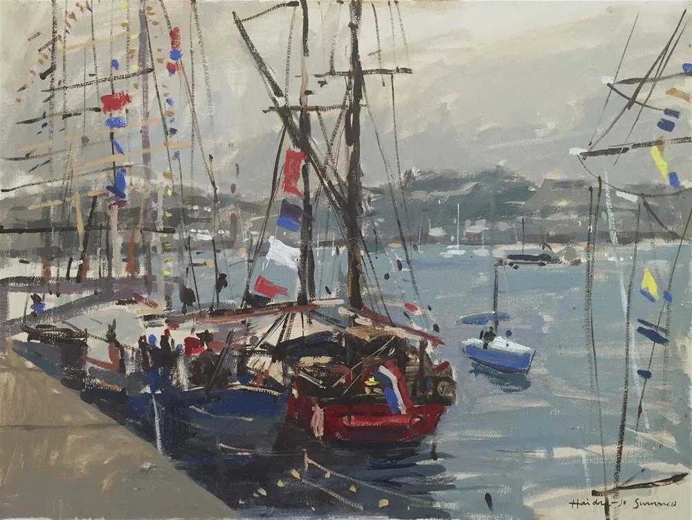"""Majestic tall ships"" original fine art by Haidee-Jo Summers ROI"