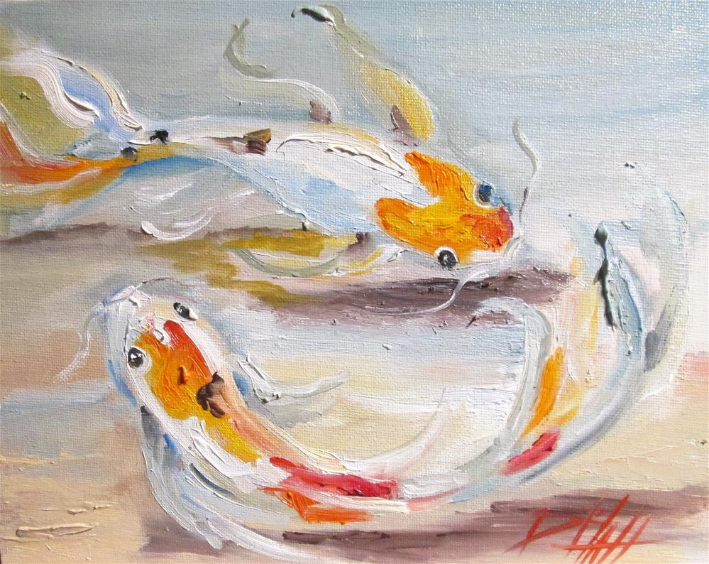 """Koi"" original fine art by Delilah Smith"