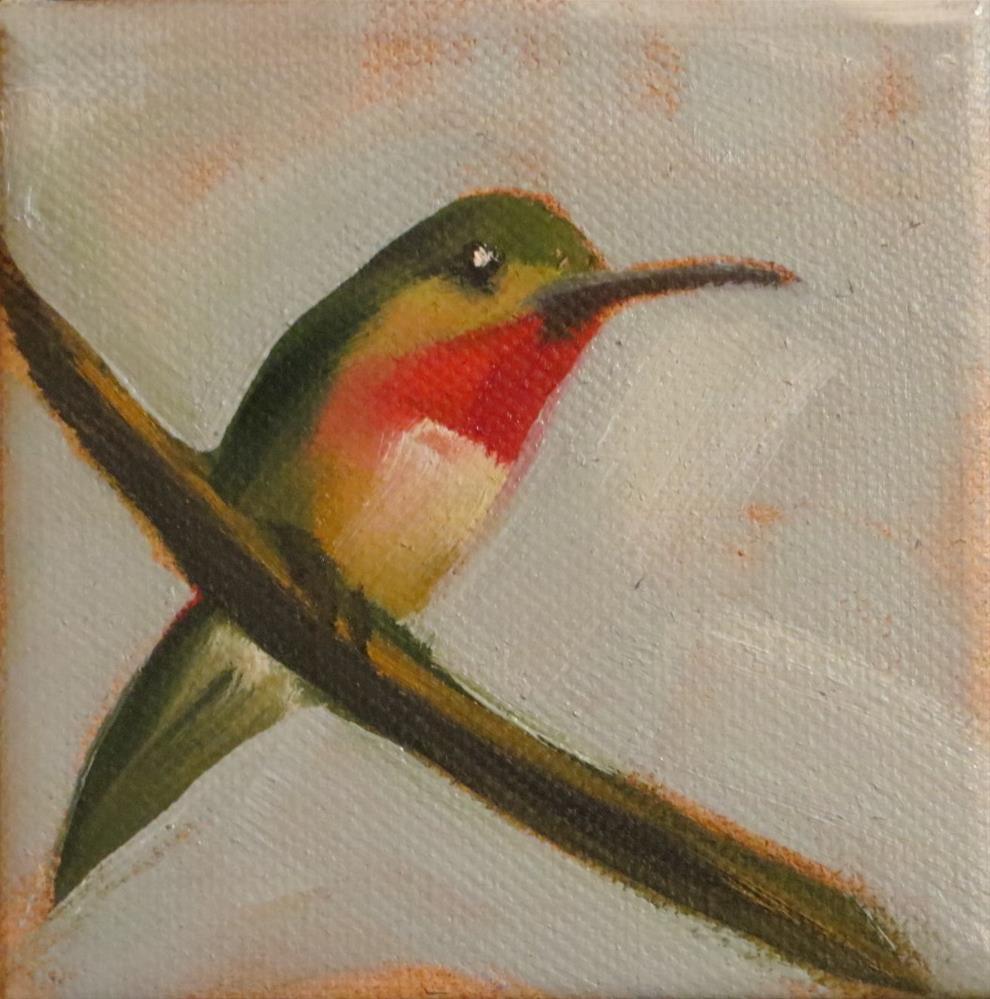 """Hummingbird no.2"" original fine art by Claire Henning"