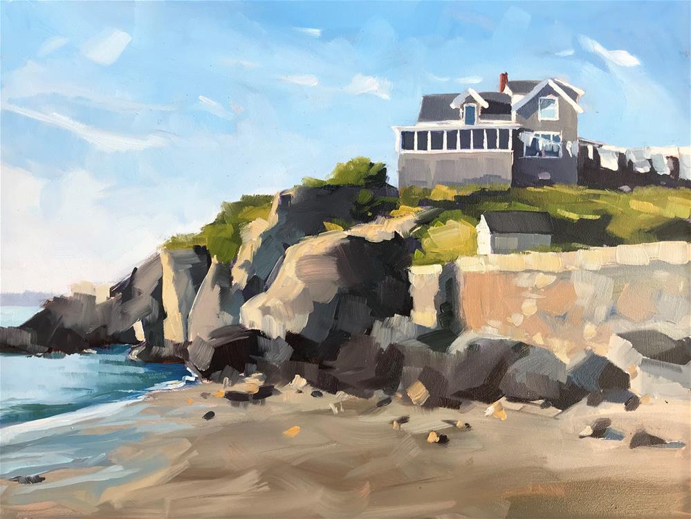 """Monhegan"" original fine art by Sharon Schock"