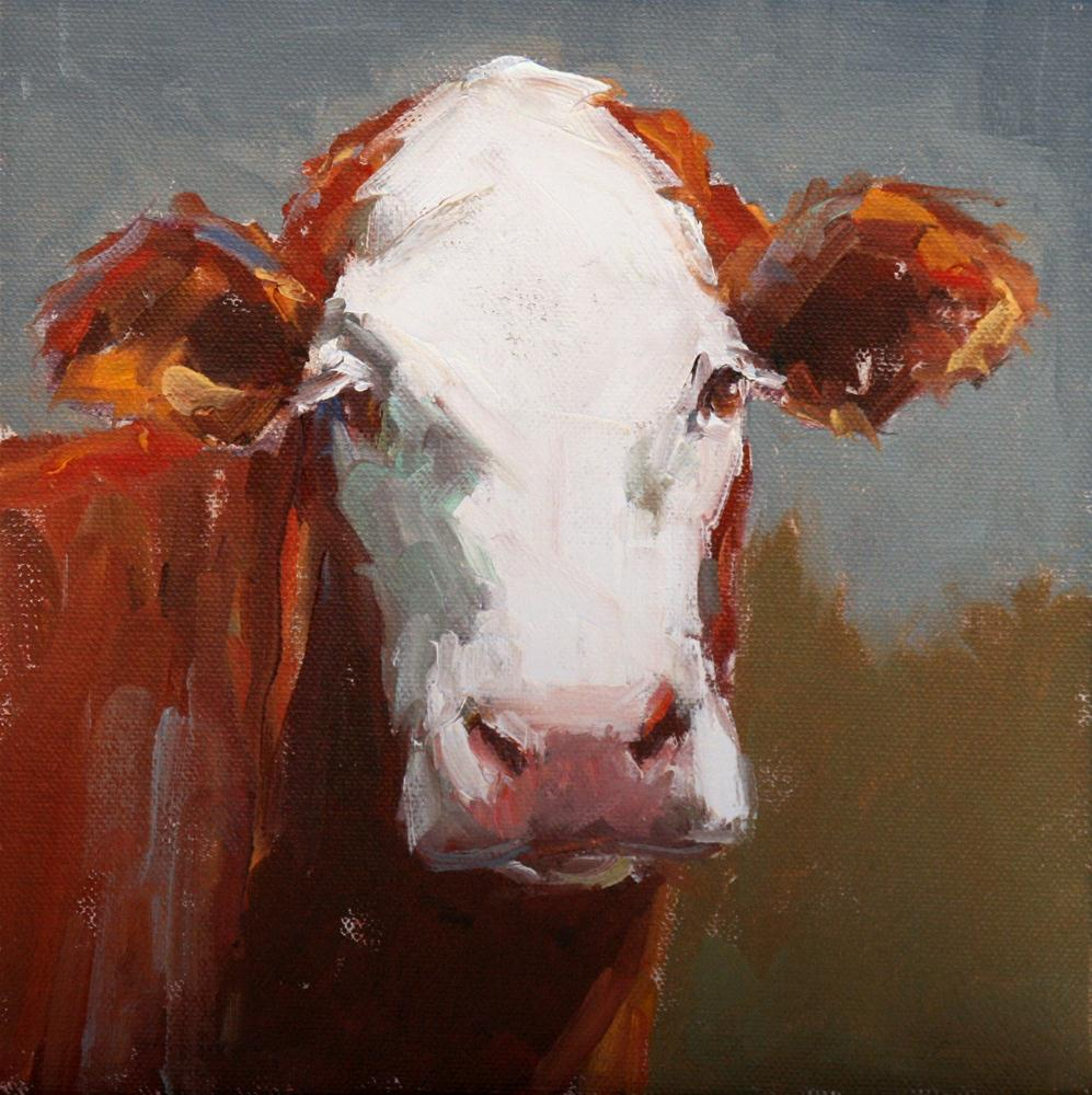 """white face"" original fine art by Carol Carmichael"