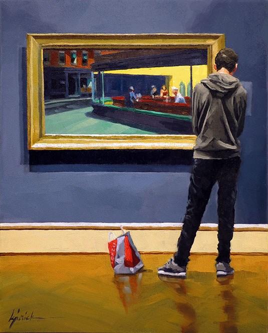 """Dropped Buy"" original fine art by Karin Jurick"