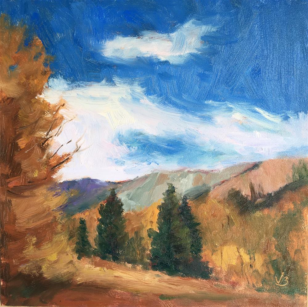 """Red Mountain Pass"" original fine art by Victoria  Biedron"