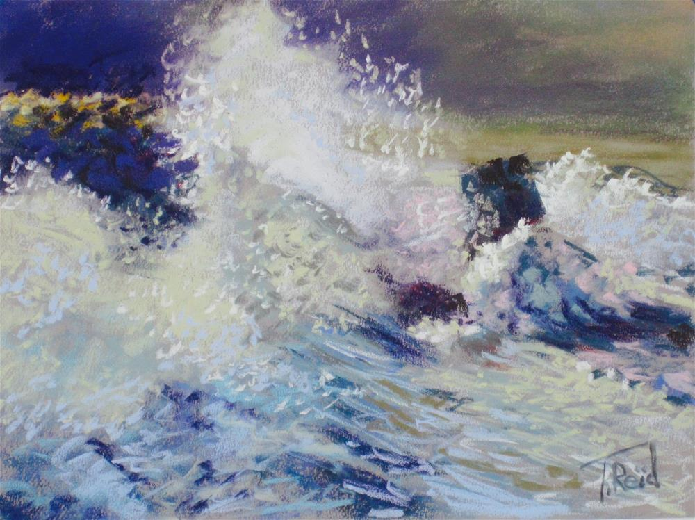 """Ocean Rage"" original fine art by Toby Reid"