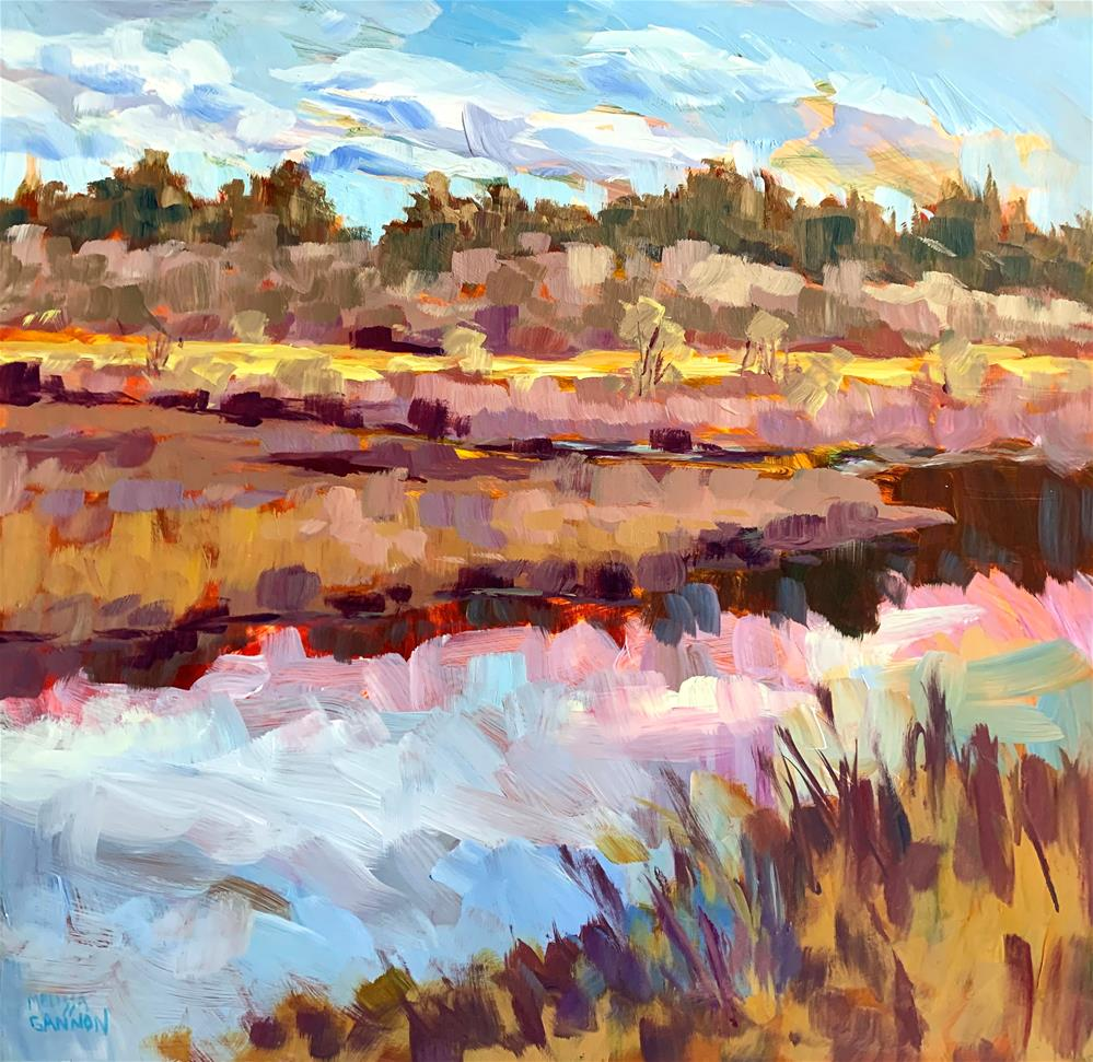 """""""Land and Sky and Magic"""" original fine art by Melissa Gannon"""
