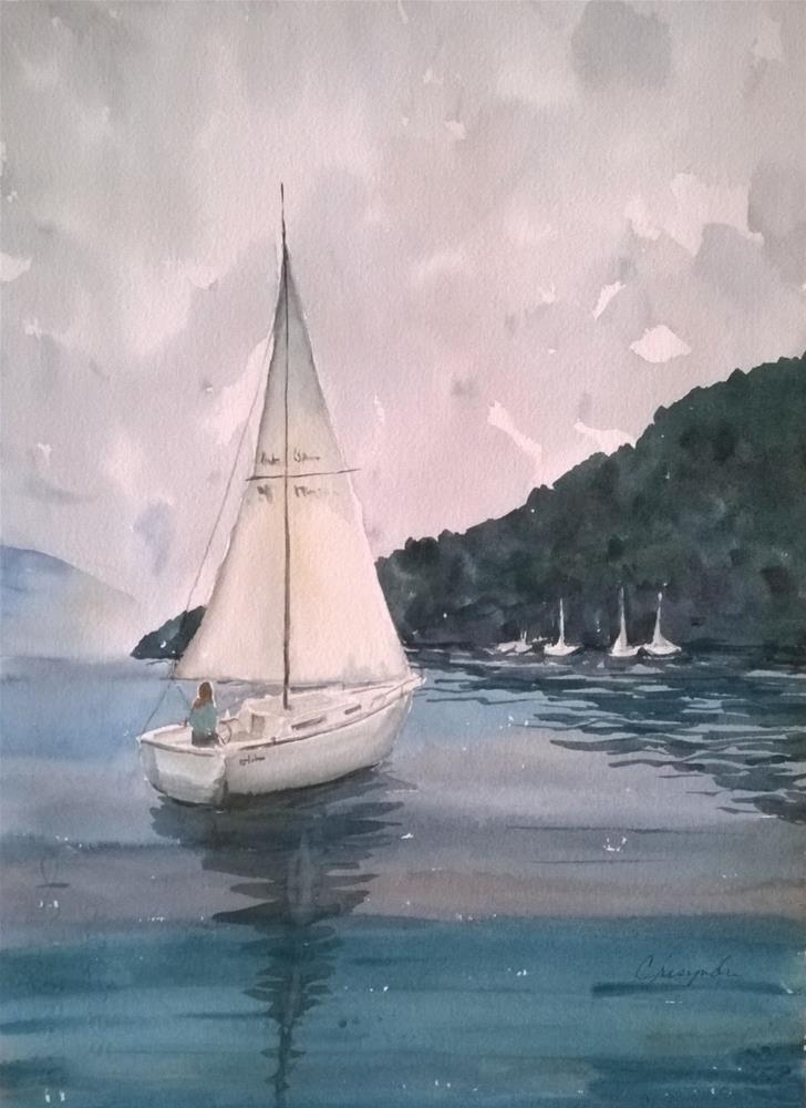 """""""Quiet Harbor"""" original fine art by Crisynda Buss"""