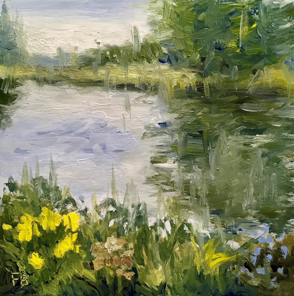"""136 Cedarburg Reservoir"" original fine art by Fred Bell"