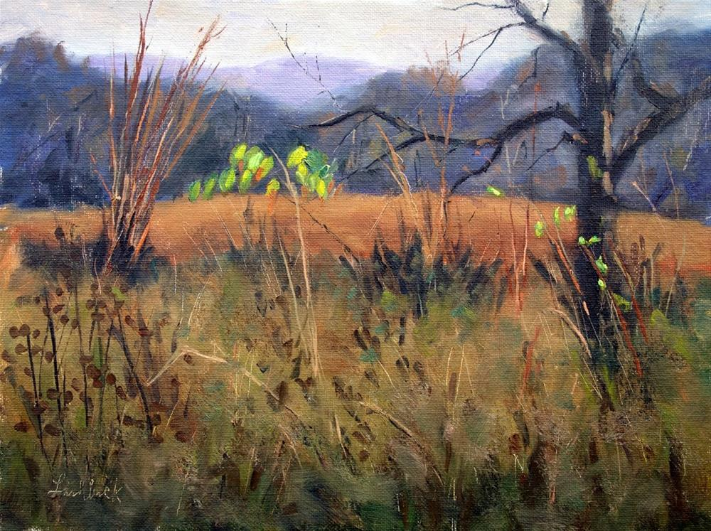 """""""Yellow and Green Leaves"""" original fine art by Daniel Fishback"""