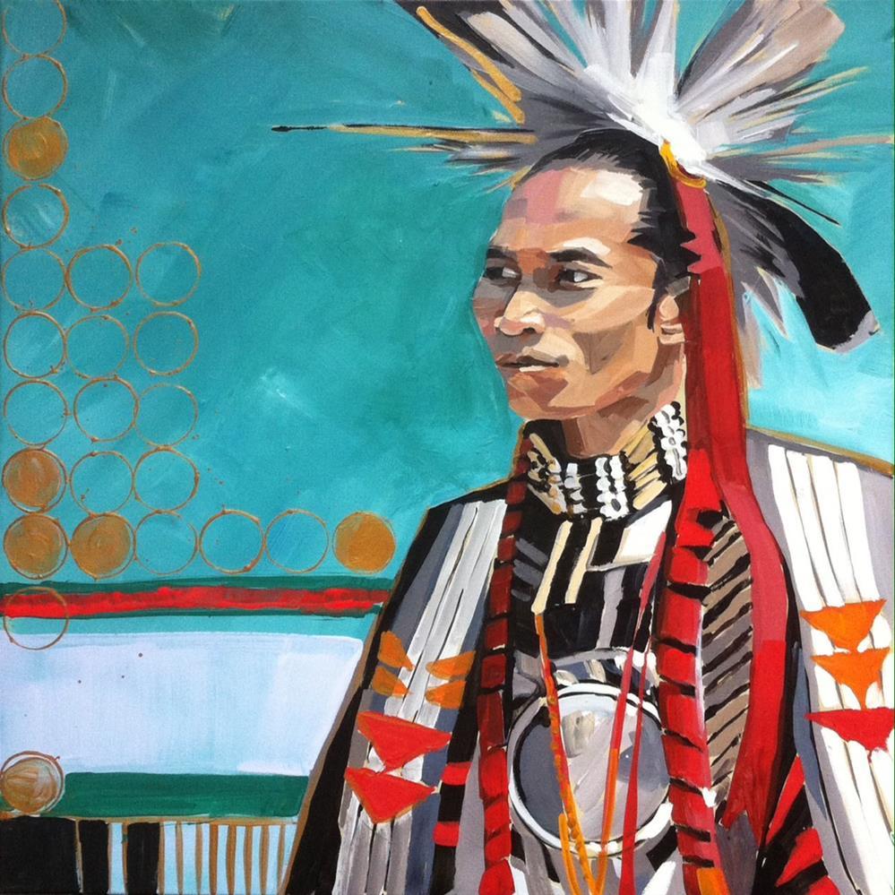 """Portrait Series No.2"" original fine art by Teddi Parker"