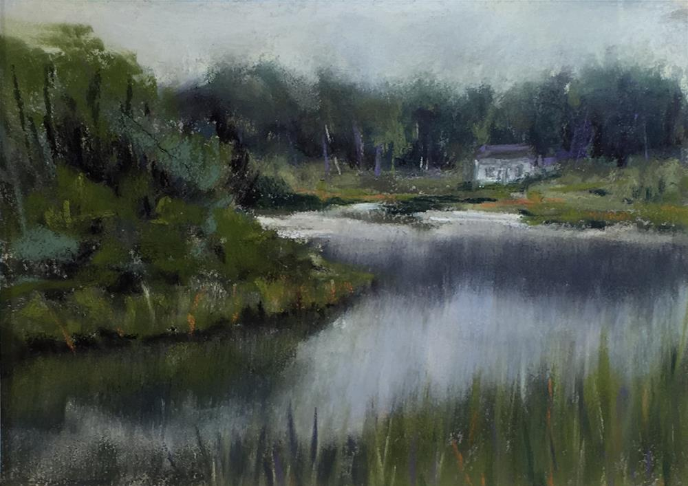 """Phillips Pond II"" original fine art by Cristine Kossow"