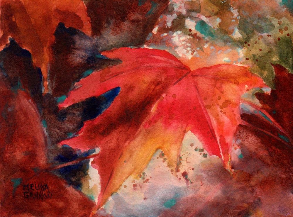 """Singing Leaves"" original fine art by Melissa Gannon"