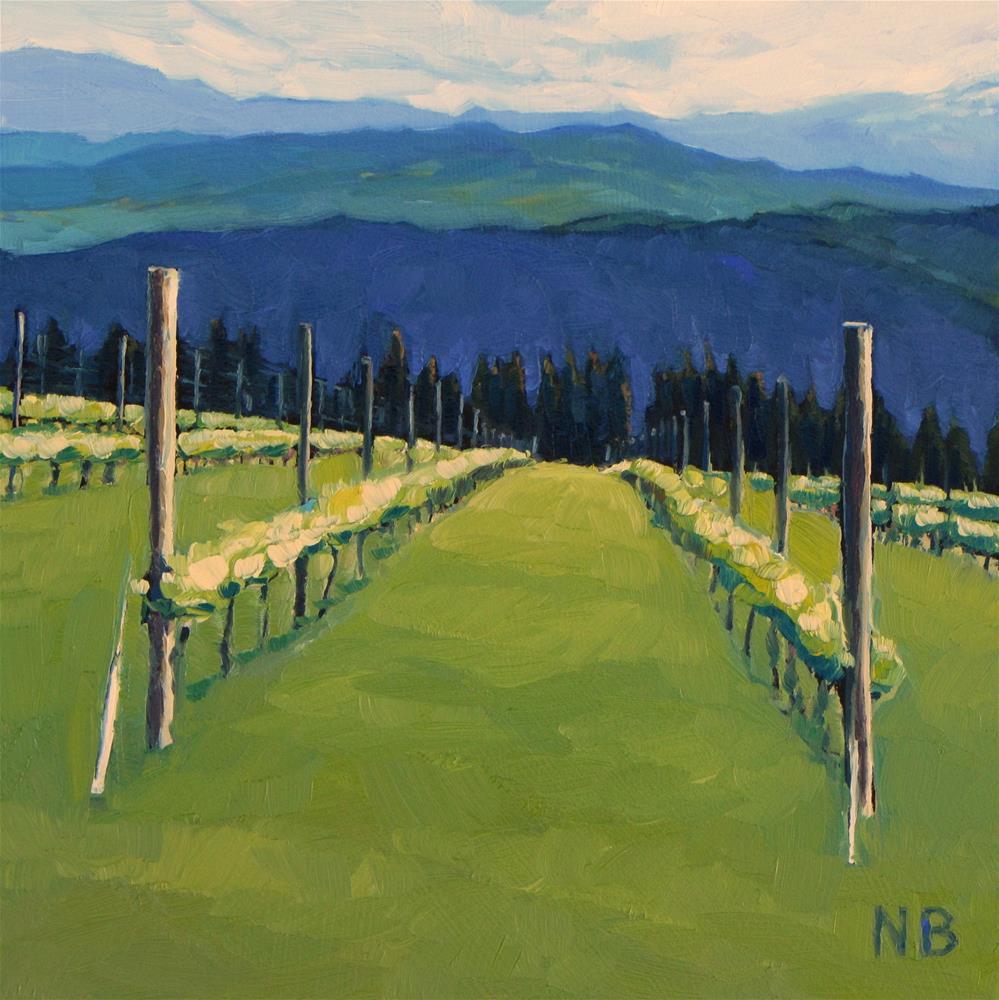 """The Greens"" original fine art by Nora Bergman"