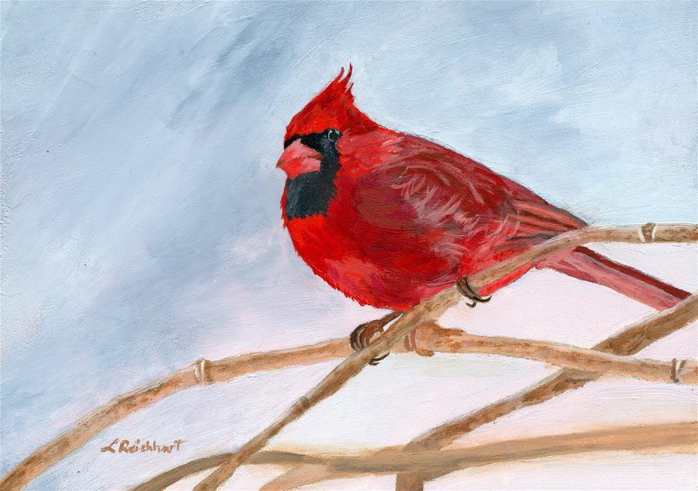 """""""A Touch of Red"""" original fine art by Lynne Reichhart"""