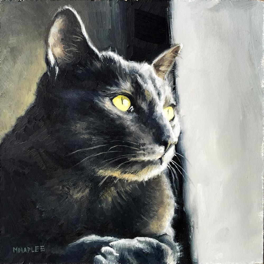 """""""Cat Commission No.2"""" original fine art by Michael Naples"""