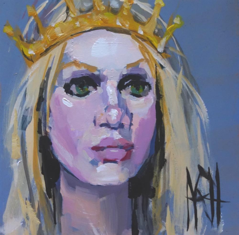 """""""Blonde Queen"""" original fine art by Nancy  Rhodes Harper"""