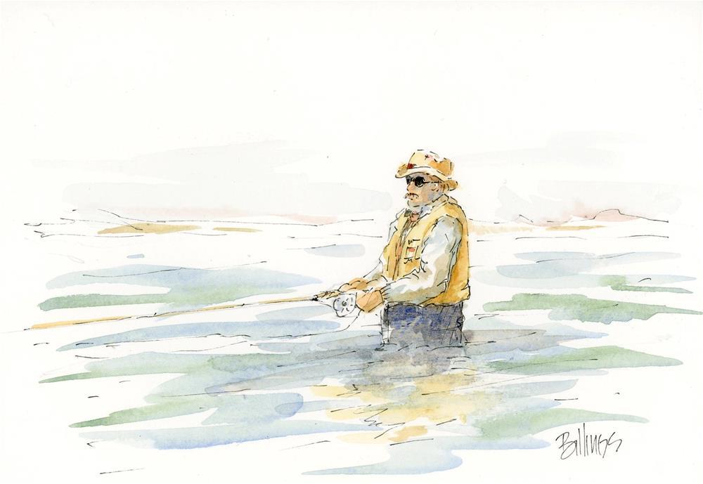 """""""Fisherman Sketch I"""" original fine art by Susanne Billings"""