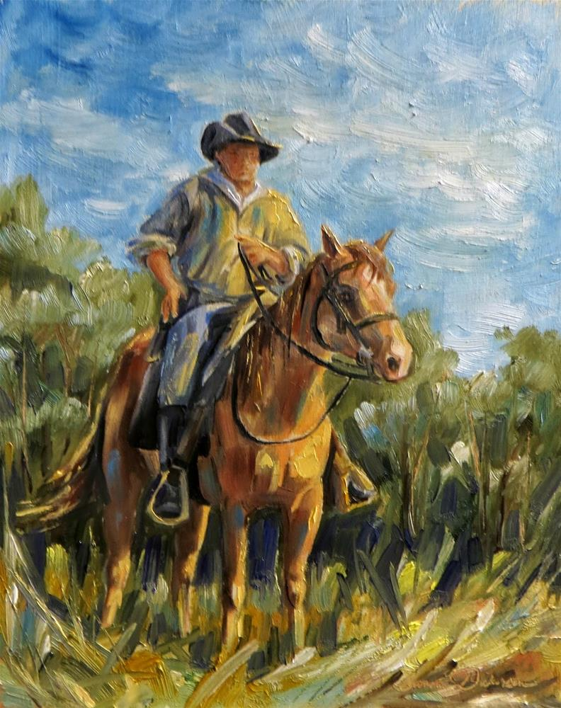 """""""Back in the Saddle"""" original fine art by Tammie Dickerson"""