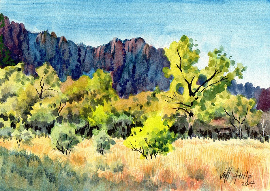 """Big Bend Shadows"" original fine art by Jeff Atnip"