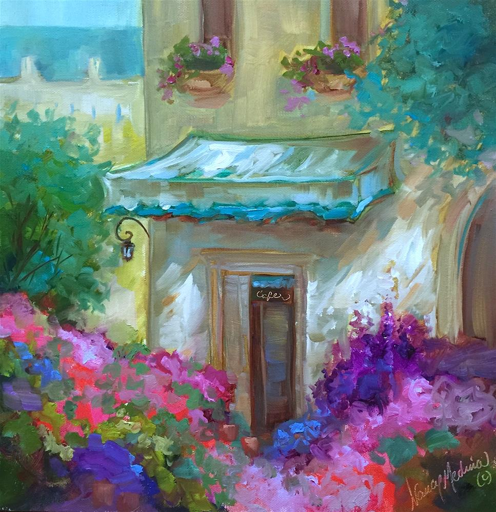 """French Bistro and the Best Way to See Paris - Nancy Medina Art Videos and Classes"" original fine art by Nancy Medina"