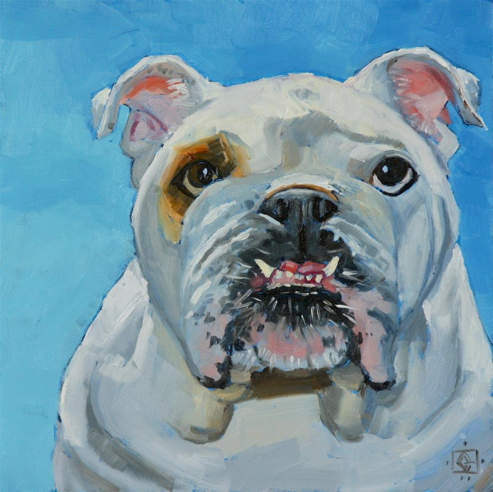 """McBully Mugface"" original fine art by Carol Granger"