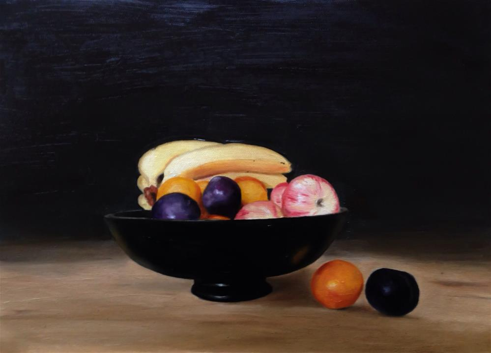 """Fruit Bowl"" original fine art by James Coates"