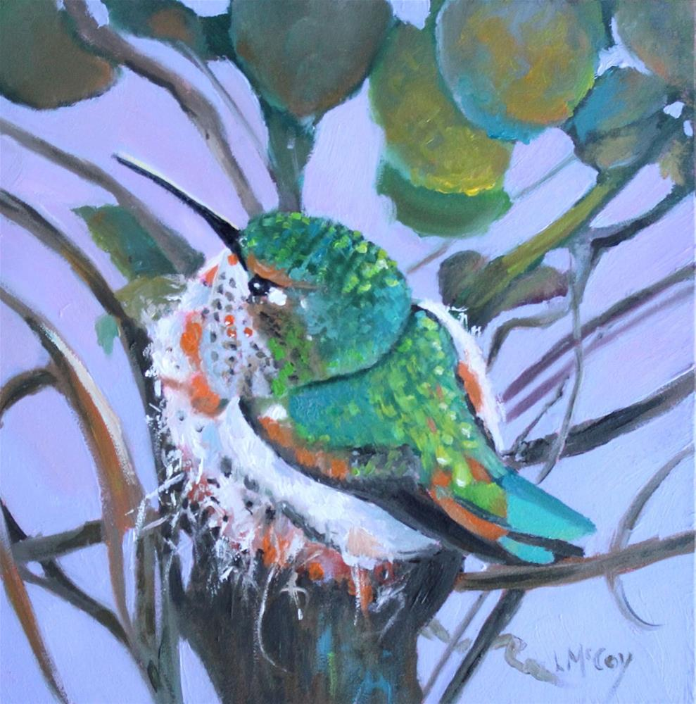 """Mama Bella, Painted from live streaming"" original fine art by Linda McCoy"